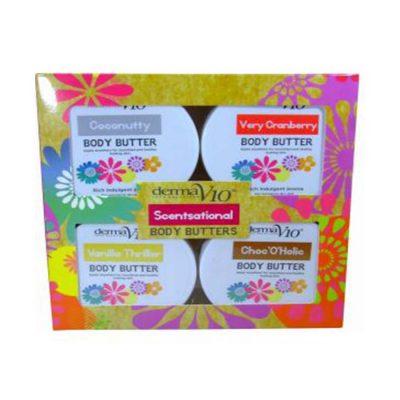 Derma V10 Body Butter Minis - Pack of 4 * 50ml each