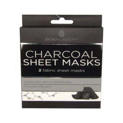 Skin Academy Sheet Masks Charcoal – 2 Fabric Sheet Mask