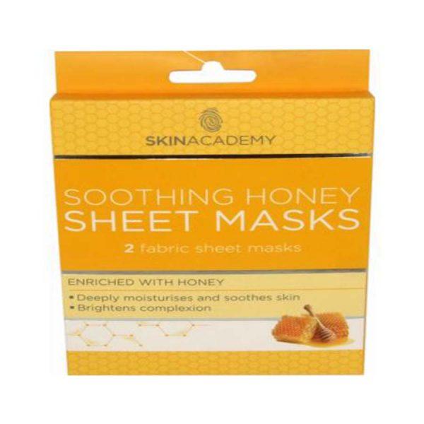Skin Academy Sheet Masks Soothing Honey - 2 Fabric Sheet Mask