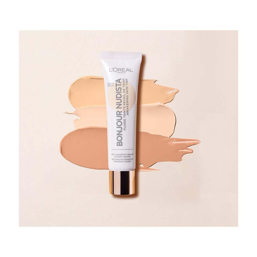 L'Oreal Bonjour Nudista Skin Tint Medium Light Cream - 30Ml