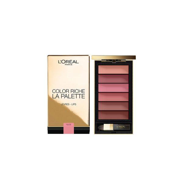 L'oreal Color Riche La Palette Gold Case Lips – Nude (6 x 1g)