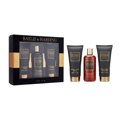 Baylis & Harding Black Pepper and Ginseng Grooming Trio Gift Set