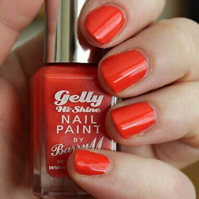 Barry M Gelly Hi Shine Nail Polish Satsuma